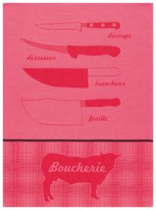 Le Jacquard Français - ALACOUPE_ROUGE_TORCHON