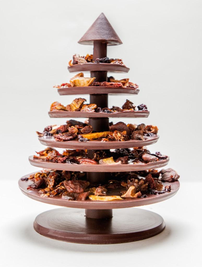 Manufacture de chocolat d alain ducasse sapin de no l - Faire un sapin de noel en chocolat ...