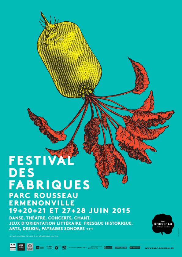 19 JUIN AFFICHE FESTIVAL DES FABRIQUES - PARC ROUSSEAU