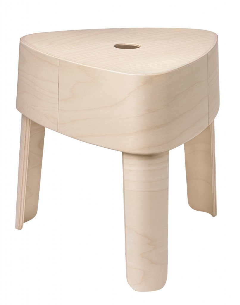 Plektra stool 409x406mm plywood