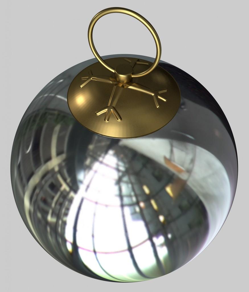 Boule argentee mat HD