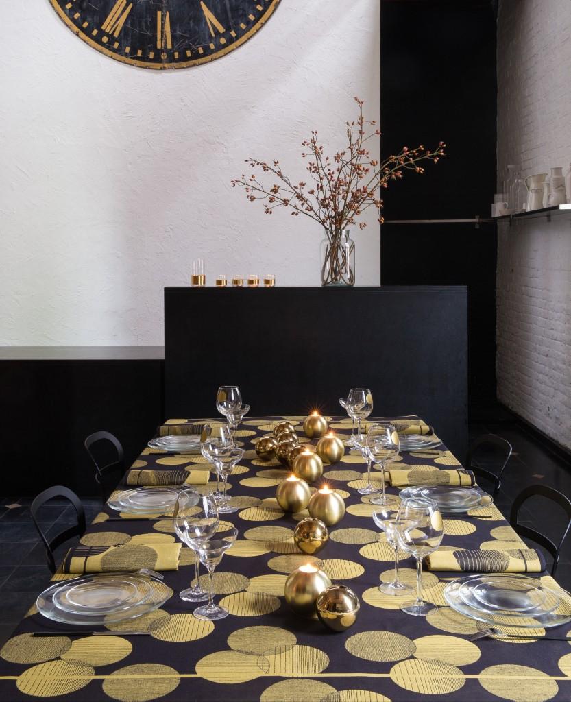 Le Jacquard Francais - Nappe PAILLETTES Gold - copie