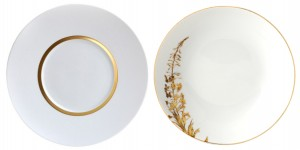 assiettes bernardaud or blanc