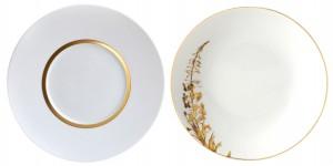 assiettes bernardaud or blanc