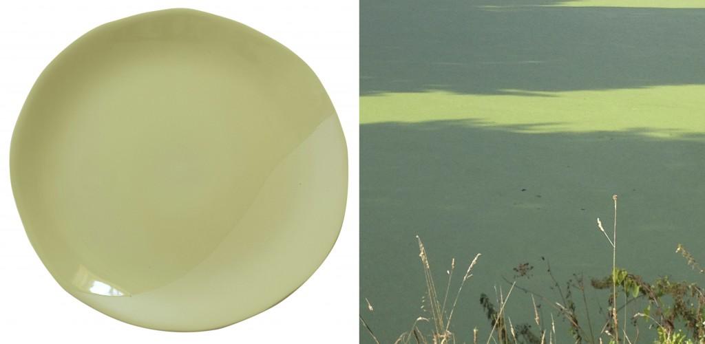 3 JARS assiette et paysage eau