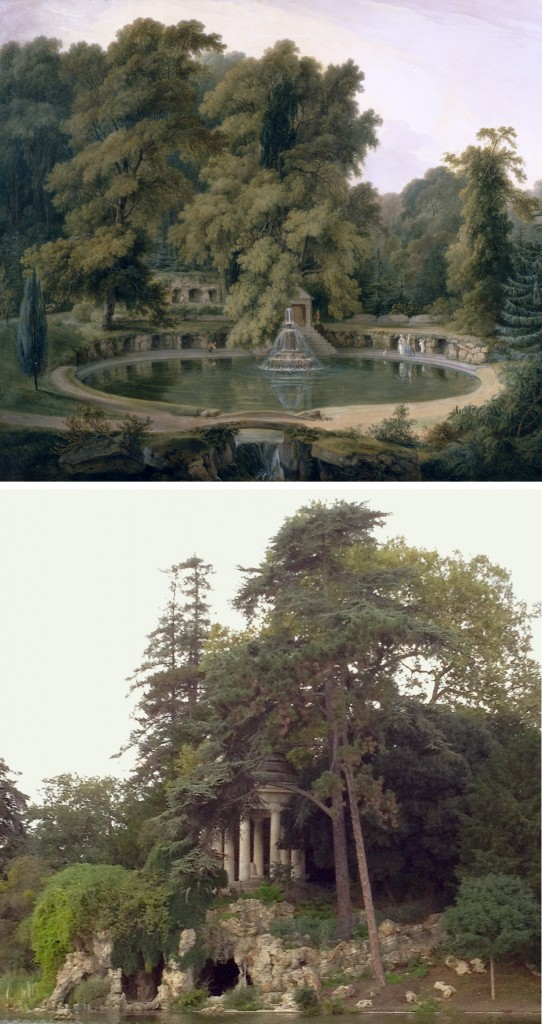 Temple Fountain and Cave in Sezincote Park, 1819 (oil on canvas)