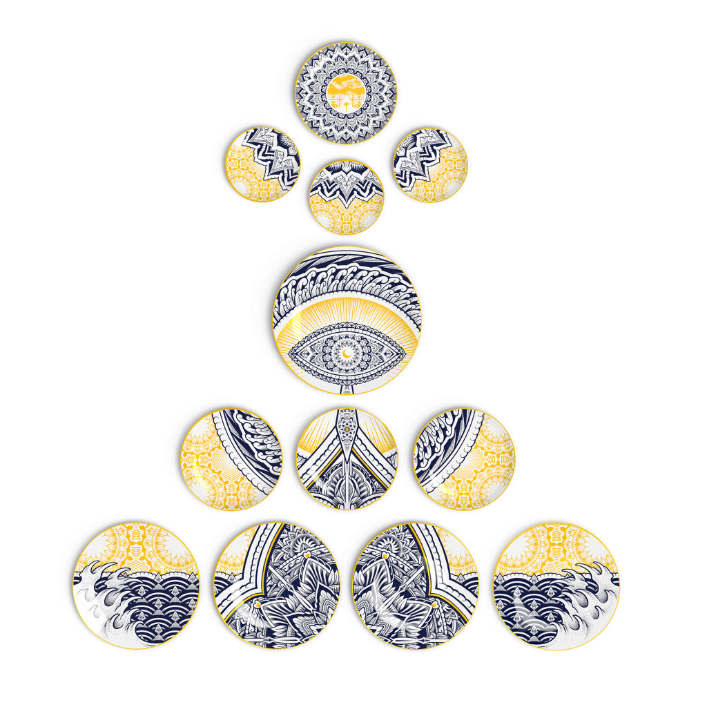 The Genesis Wall Plates by Jekyll x Non Sans Raison porcelaine limoges